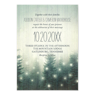Forest Lights | Rustic Wedding Invite