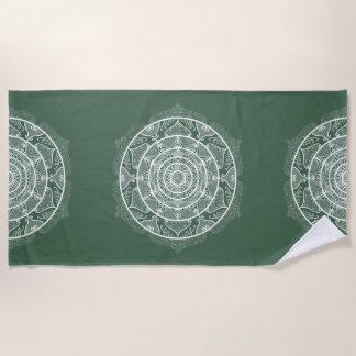 Forest Mandala Beach Towel