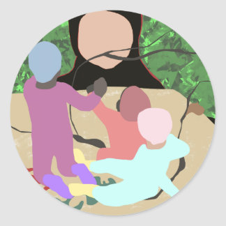 Forest Miro Classic Round Sticker