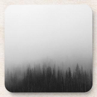 Forest Nature Landscape Scene Foggy Mystical Beverage Coasters