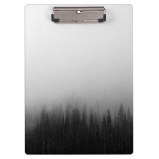 Forest Nature Landscape Scene Foggy Mystical Clipboard
