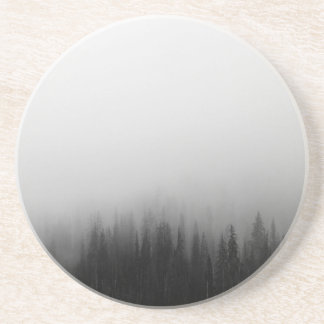Forest Nature Landscape Scene Foggy Mystical Coaster