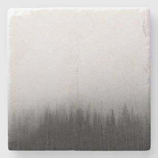 Forest Nature Landscape Scene Foggy Mystical Stone Beverage Coaster