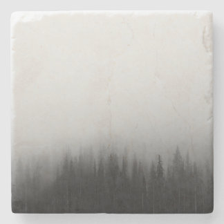 Forest Nature Landscape Scene Foggy Mystical Stone Coaster