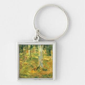 Forest of Compiegne by Berthe Morisot Keychain