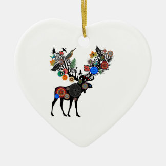 FOREST OF LIFE CERAMIC HEART DECORATION