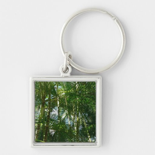 Forest of Palm Trees Keychain