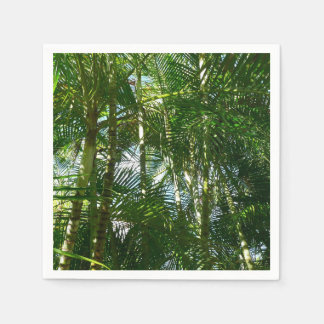 Forest of Palm Trees Tropical Green Disposable Serviette