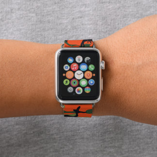 Forest Orange and Green Camouflage. Camo your Apple Watch Band