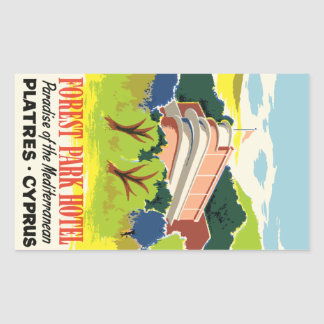 Forest Park Hotel (Cyprus Plasters) Vector format Rectangular Sticker