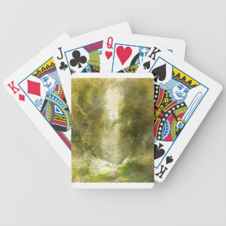 Forest Path Bicycle Playing Cards