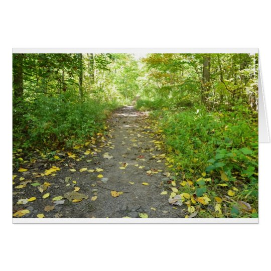 Forest Path Blank Note Card