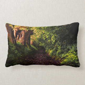Forest Path by Alexandra Cook Lumbar Cushion