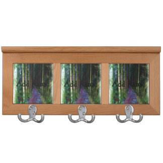 Forest Path Drawing Coat Racks