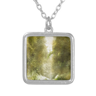 Forest Path Silver Plated Necklace