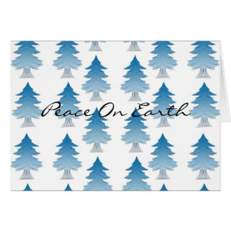 forest - peace on earth greeting card
