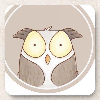 Forest portrait owl coaster