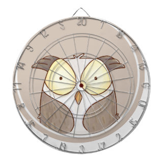 Forest portrait owl dartboard