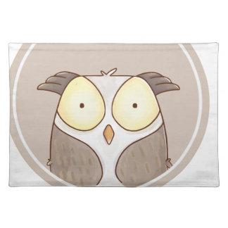 Forest portrait owl placemat
