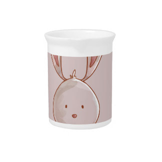 Forest portrait rabbit pitcher