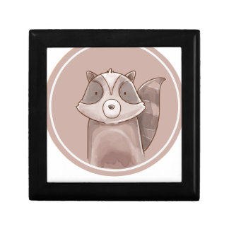 Forest portrait raccoon gift box
