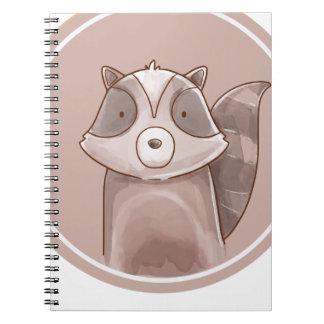 Forest portrait raccoon notebook