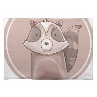 Forest portrait raccoon placemat
