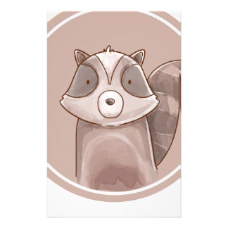 Forest portrait raccoon stationery