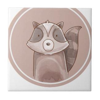 Forest portrait raccoon tile