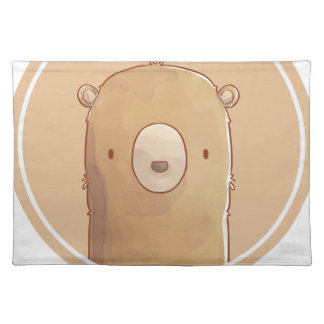 Forest portrait to bear placemat