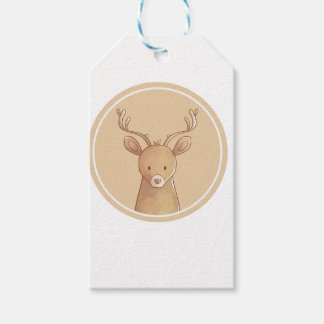 Forest portrait to deer gift tags