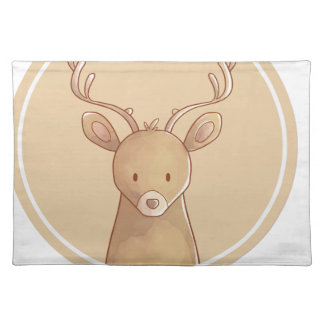 Forest portrait to deer placemat