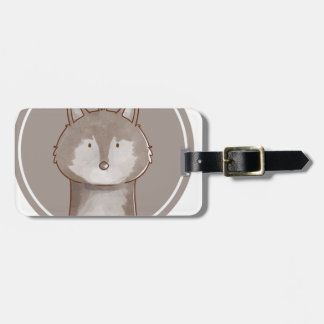 Forest portrait wolf luggage tag