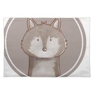 Forest portrait wolf placemat