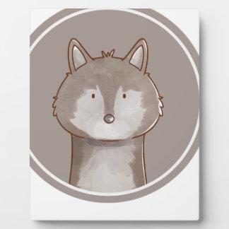 Forest portrait wolf plaque