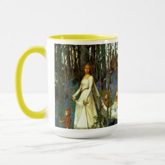 FOREST PRINCESS DWARVES KNIGHT FAIRYTALE FANTASY MUG