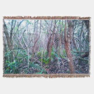 Forest Print Throw Blanket