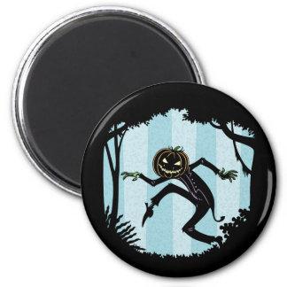 Forest Punkin Man 6 Cm Round Magnet