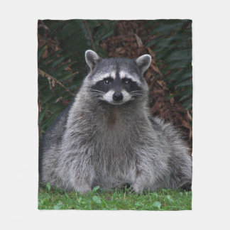 Forest Raccoon Photo Fleece Blanket
