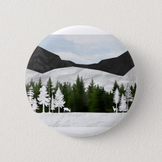 Forest Scene 6 Cm Round Badge