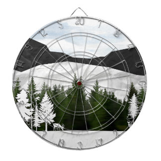 Forest Scene Dartboard