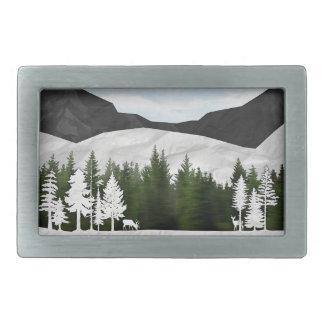 Forest Scene Rectangular Belt Buckle