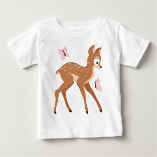 Forest series fawns baby deer girl tee shirts