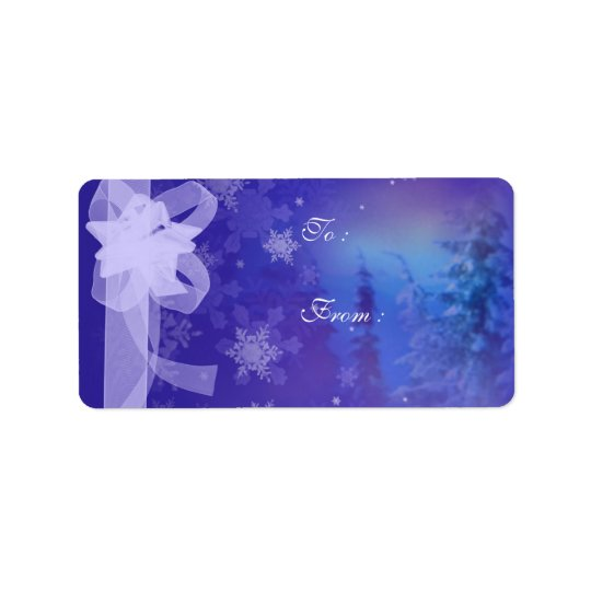 Forest Snow Flakes Christmas tags