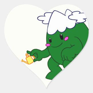Forest Spirit Heart Sticker