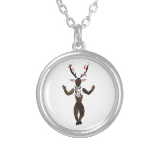 Forest Spirit Silver Plated Necklace