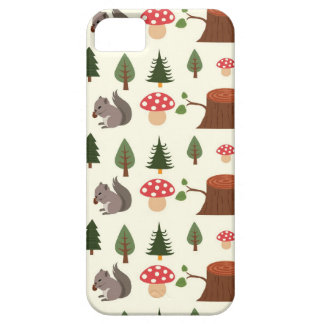 Forest Squirrel Pattern iPhone 5 Covers