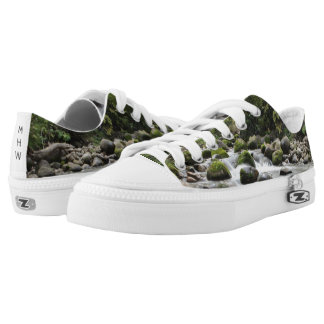 Forest Stream custom monogram shoes Printed Shoes