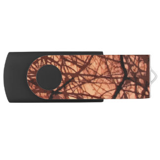 Forest Sunrise Abstract Swivel USB 2.0 Flash Drive