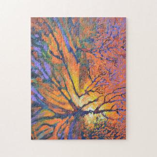 Forest sunrise puzzles